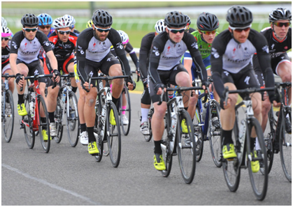 Riding with team members in B grade at Sandown Race Course