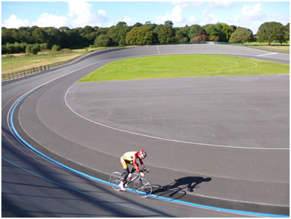 cyclist on track