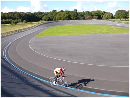 cyclist on track