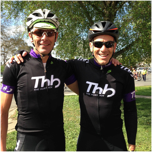 David Sturt with business partner Harry Hanley – two very smart cyclists.