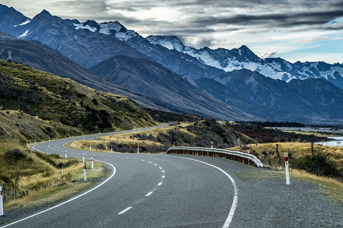 Cycling across New Zealand
