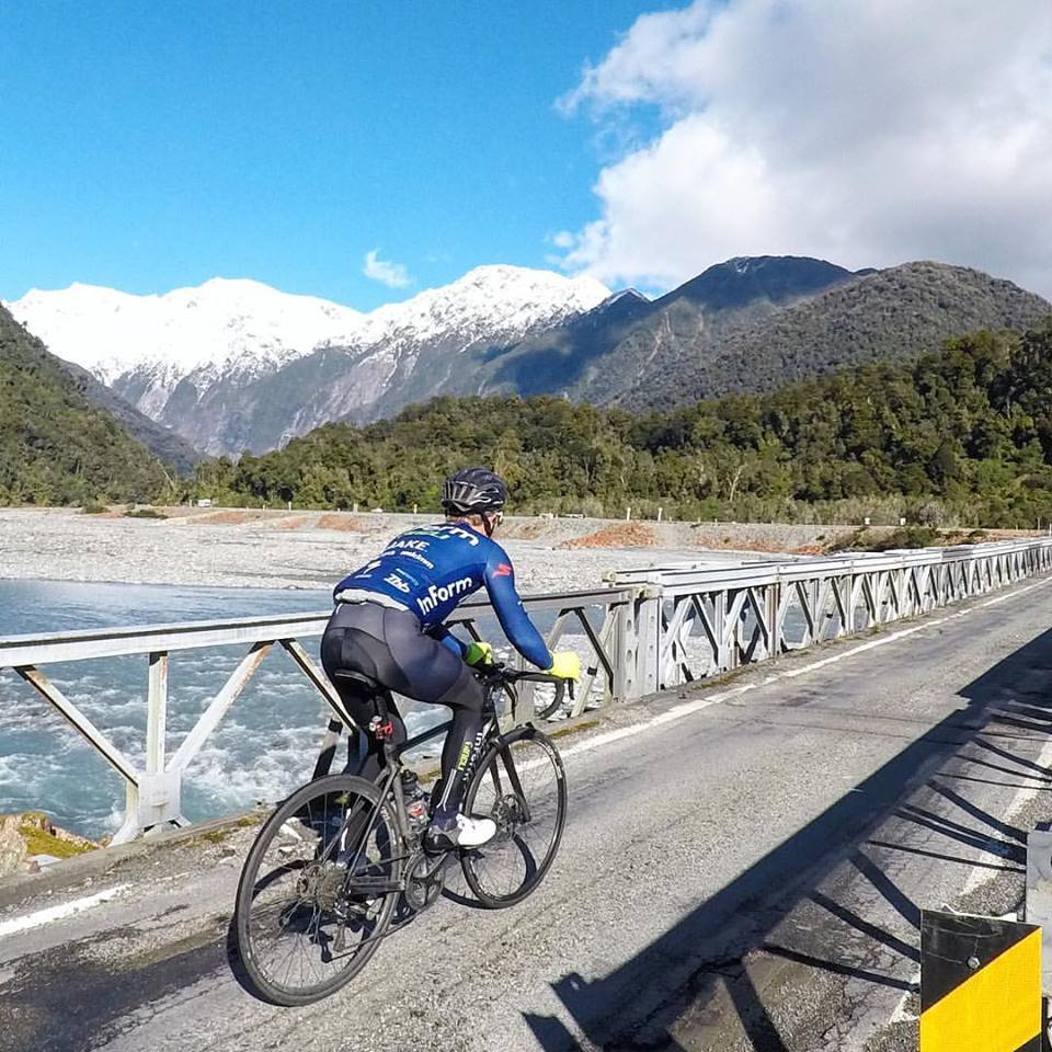 Beautiful scenery for a bicycle ride in NZ South Island