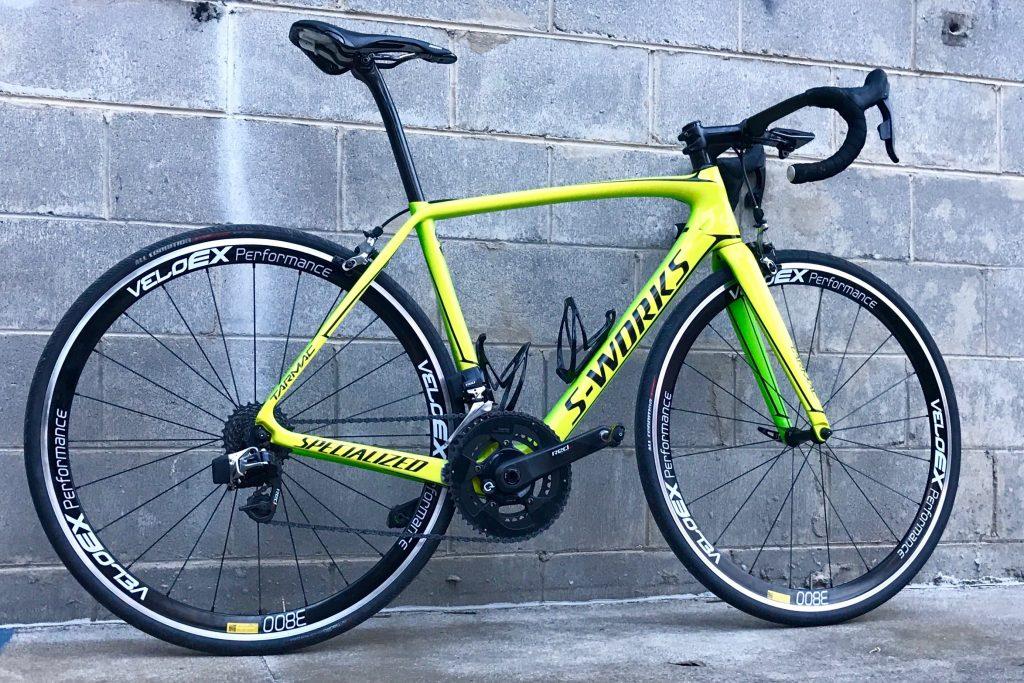 Veloex road wheel and road bike