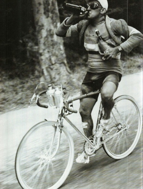 cyclist drinking beer tour de france