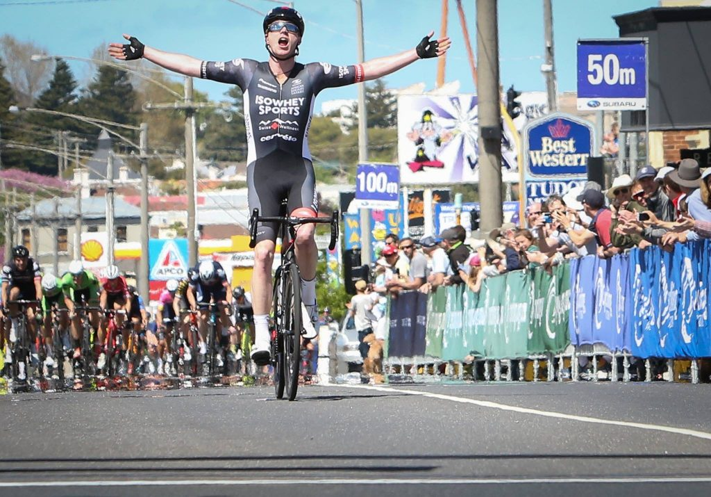 Winner of the 2017 Melbourne to Warrnambool Nathan Elliott