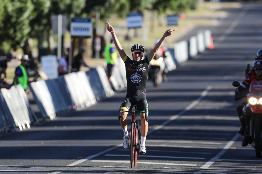 Tyler Lindorff Mens Winner of Under 19 Australian Road Race