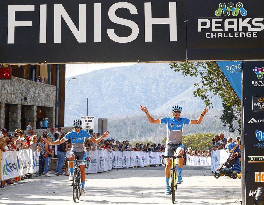 Peaks Challenge finish line