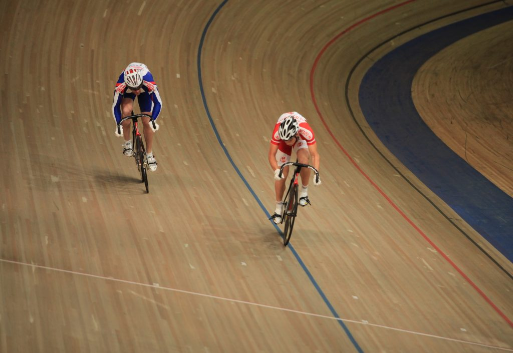 track cycling sprint race