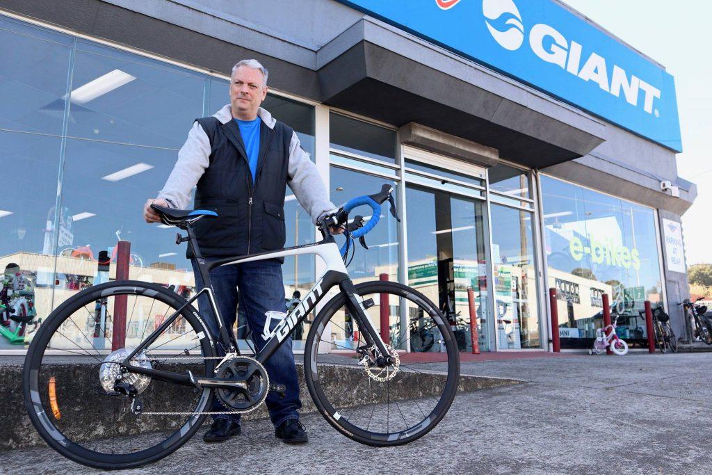 Geoff's stolen bike