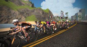 Stage 2 Virtual Tour de France the pack