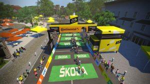 Zwift Tour de France Race 3 Image 3 men's women's professional races