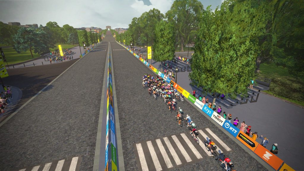 Stage 6 Mens TDF Peleton