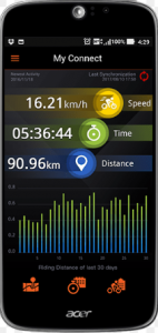 Explova Connected App for Explova X5 Evo cycling GPS